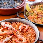 スペインでのコンテスト優勝経験もあるお料理の数々