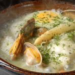 ハタの土鍋煮・バスク風