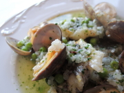 ・カブラと白インゲン豆、塩豚のスープ、ガリシア風 ・アンコウの土鍋煮、漁師風 ・デザート ・選べるカフェ