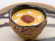 岩清水コンソメ使用『かぼちゃの冷製スープコンソメゼリー添え』
