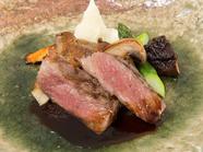 熊野の絶品黒毛和牛を使用『美熊野牛のポワレ 生姜のソース』