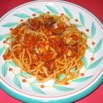 ●あさりのピリ辛トマトソース