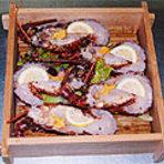 海鮮蒸し料理の第二段伊勢海老