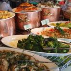 海の幸や野菜を中心とした前菜バイキング