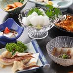 『杉会席』のほか、魚介1種を食べつくすコース料理がおすすめ
