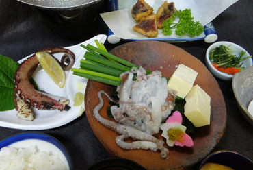 師崎、大井産  たこ料理各種