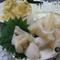 エンガワから脳味噌まで、8品が付いた『アオリイカづくし』