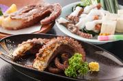 タコ酢、シャブシャブ、焼き、刺身、茹で、煮つけ、天ぷら、雑炊、デザート