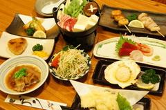新鮮で美味しいお料理をご予算にあわせてご用意いたします!(写真は3000円コースの一例)