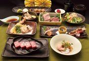 近江牛を中心とした、滋賀の宝を詰め込んだ特別メニュー。滋賀県産の和洋酒とお楽しみ下さい。