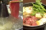 口取り、和牛すき焼き又は和牛しゃぶしゃぶ食べ放題「黒毛和牛肩ロース使用」、旬野菜、うどん、デザート