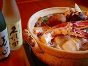 口取り、茶碗蒸し、お造り、焼き物、揚げ物、蟹1人鍋、ご飯、香物、甘味