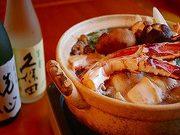 口取り、前菜、お造り、お椀、焼き物、蟹天ぷら、蟹1人鍋、酢の物、ご飯、香物、甘味