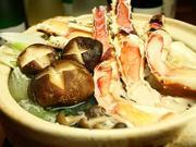 口取り、前菜、お造り、焼き蟹、蟹鍋、旬野菜、蟹雑炊、香物、甘味