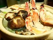 食前酒、口取り、前菜、お造り、焼き蟹、蟹鍋、旬野菜、蟹雑炊、香物、甘味