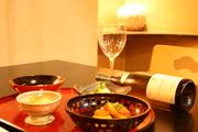 先付、お造里、焼物、揚げ物、蒸し物、留椀、お食事、香物、甘味