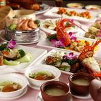 フカヒレの姿煮、北京ダック、燕の巣のスープ、など高級食材有り