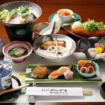 会席コースが3000円から各種揃っています。広間は最大70人可能