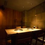 プライベートなシーンや接待などに利用したい完全個室