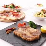 お料理は前菜からデザートまで各種単品でもご注文頂けます。