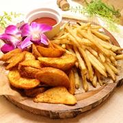 Borabora Hawaiian Plate Boraboraで人気のリゾ飯FOODを1度に味わえる贅沢プレート★ハンバーグクラッシックロコモコ・甘エビのフリット チリマヨ和え・シーフードセビーチェ・モチコチキン・自家製カラメルプリン