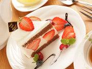 ドリンクと日替わりケーキか本日のシフォンケーキ、お好きな方がつくお得なセットです