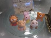 前日までに2300円以上のケーキご予約のお客様メッセージプレート 砂糖菓子のアニマル人形orくまさんのチョコレート(白,茶)