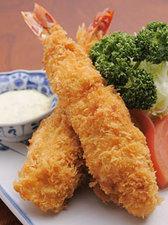 お店一番の人気メニュー『海老フライ定食』