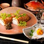 新鮮魚貝の旬の味と京野菜の彩りが楽しめる