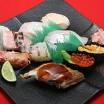 特上にぎり寿司盛り合わせ (赤だし付き)