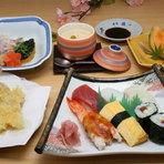 舞コース(揚げたてサクサク天婦羅、にぎり寿司、他3品)