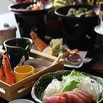 お得な定食「2500円」や名物の御膳が堪能できる老舗料理旅館
