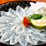 旬の鮮魚を使ったコースもご用意しております。