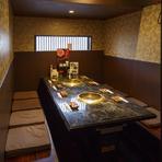 テーブルタイプの個室もあります