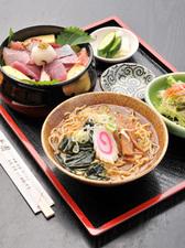 海鮮漬け丼セット(ランチメニュー)