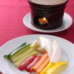 世田谷産の有機野菜も入ったバーニャカウダ