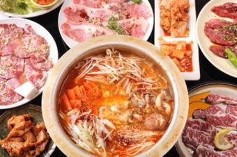 和牛焼肉で満足、モツ鍋で満腹 2名様よりご予約承ります。