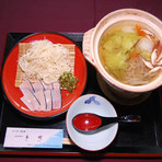 鯨とソーメン鍋