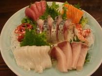 三島で獲れた鮮魚で造る『お刺身盛り合わせ』