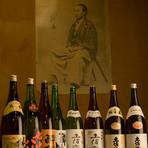 お料理とよく合う高知のお酒や全国のお勧め地酒が豊富
