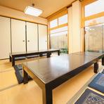 4名~利用できる個室や大広間など、家族の食事会にぴったり