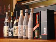 地酒各酒・幻の焼酎多数ご用意しております。