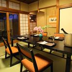 テーブル席(個室/2~8名様)