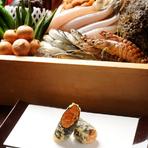 産地を厳選した、こだわりの天ぷらを楽しんでください