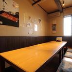 2階には個室もご用意しています。食事会や飲み会などに