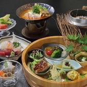 桶の中に広がる魅惑の宝石箱『桶料理』