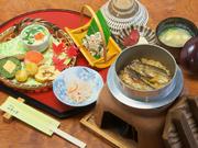日田ならではの鮎を丸ごと釜飯にした品で、食べ応え十分なオススメの一品です。日田に来られたら是非。