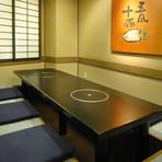 駅近、掘りコタツの完全個室で、新懐石の接待コース、5400円