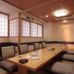 大小の個室があり、2~50名様まで対応できます。
