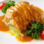鳥肉の辛子胡麻ソース和え(棒棒鶏) (小盆)